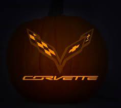 stingray corvette logo yourself a stingray o lantern with chevrolet s pumpkin