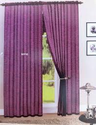 amazon com 2 piece black pink zebra sheer window curtains drape