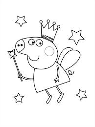 free coloring pages peppa pig fairy 7649 bestofcoloring