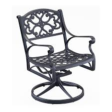 Black Rocking Chairs Lowes Shop Home Styles Biscayne Black Aluminum Patio Rocking Chair At