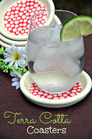 terra cotta coasters give your table a fresh look for spring