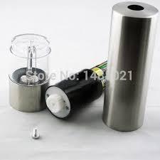 electric salt pepper mill grinder with light 2 pcs stainless steel electric kitchen tool salt pepper mill grinder