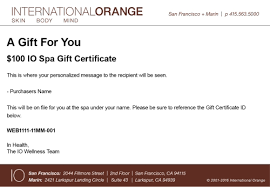 email gift certificates international orange best spa in san francisco day spas in san