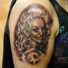 venetian tattoo gathering tattoos black and gray dolly parton