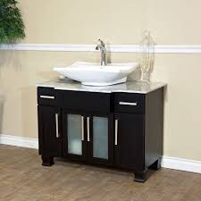 bathroom vanity single sink cabinet dark walnut finish benevola