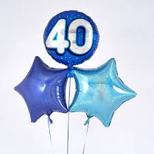 40th birthday delivery blue 40th birthday balloon bouquet inflated free delivery