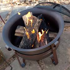 Personalized Fire Pit by Red Ember Brockton Steel Cauldron Fire Pit With Free Cover