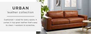 west elm reclining sofa urban leather collection west elm