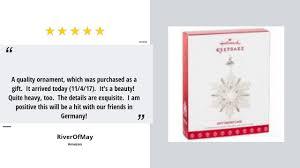 buy hallmark keepsake 2017 snowflake dated porcelain