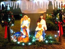 light up nativity set 2 lovely light up nativity sets for outdoors