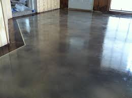 interior concrete staining with border by solid impressions