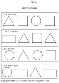 worksheets on shapes worksheets