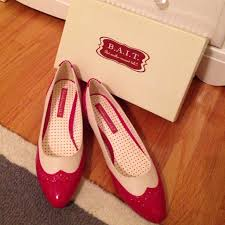 42 off b a i t shoes retro red and cream wingtip spectator