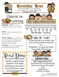 newsletter template thanksgiving newsletter