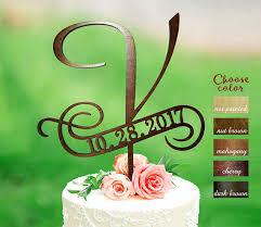 rustic monogram cake topper v cake topper rustic monogram cake topper wedding letter