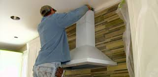 Installing Tile Backsplash Installing Tile Backsplash And Range Hood In Kuppersmith Project