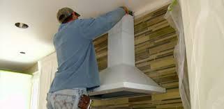 Installing Tile Backsplash And Range Hood In Kuppersmith Project