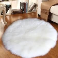 Faux Fur Area Rugs Fluffy Floor Carpet Faux Fur Sheepskin Area Rug Chair Throw Seat