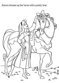 princess aurora princess aurora love horse coloring
