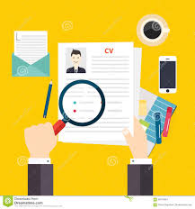Writing A Resume by Cv Resume Job Interview Concept Writing A Resume Stock Vector