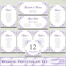 Wedding Seat Chart Template Items Similar To Printable Wedding Seating Chart Template Diy