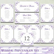 Wedding Seating Chart Template Items Similar To Printable Wedding Seating Chart Template Diy