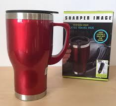 Heated Coffee Mug 020895 Sharper Image Twin Pack Stainless Steel Heated Travel