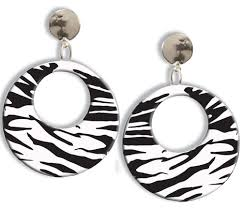 80s earrings earrings zebra caufields