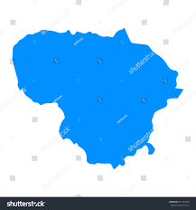 Lithuania World Map by High Detailed Blue Map Lithuania Vector Stock Vector 541734289