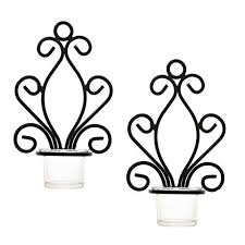 Candle Wall Sconces Wrought Iron Wrought Iron Wall Sconces Amazon Com