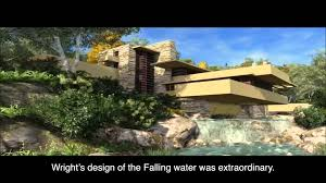 Frank Lloyd Wright Waterfall by Fallingwater Frank Lloyd Wright Youtube