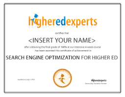 online seo class search engine optimization seo for higher education online