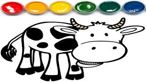 cow coloring page coloring book youtube