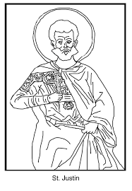 free coloring page saint justin schola rosa co op u0026 home