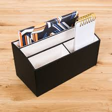 Desk Organizer Box Desk Organizer Black Ivory Spruce