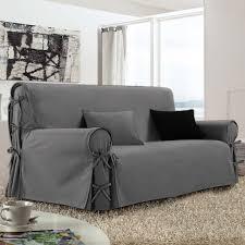 housses canapé housse de canapé 3 places gris housses de canapé