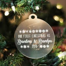 personalized engraved frosted acrylic ornament