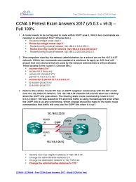 free ccna study guide ccna 3 pretest exam answers 2017 v5 0 3 v6 0 u2013 full 100