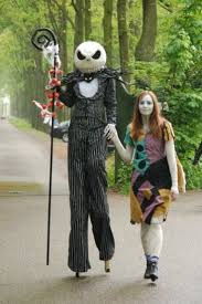 picture of skellington and sally costumes from nightmare