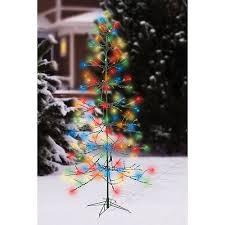 twinkle light christmas tree walmart holiday time 72 twinkle christmas tree led light sculpture multi