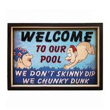 ram game room odr159 chunky dunk pool sign outdoor wall art the mine