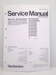 technics original service manual schematics sx kn2400 pcm keyboard