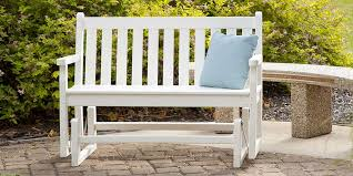 outdoor glider bench paint outdoor furniture warm and inviting