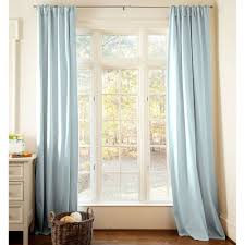 curtain hanging styles one pair silky blue curtain hanging on silver iron rod for window