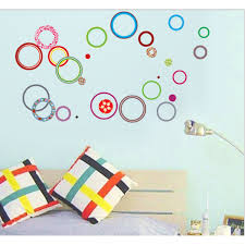 wall decals stickers wackydot multi colored circles wall decal sticker