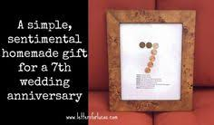 traditional 30th anniversary gift craft ideas on 7th wedding anniversary 7th pinteres