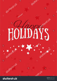 colorful paper card happy holidays merry stock illustration