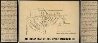 Map Of Missouri River Indian Map Of The Upper Missouri River 1801