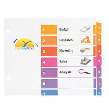 avery 15 tab table of contents color template avery tabs templates resume