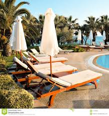 beautiful lounges near the pool stock photography image 17303852